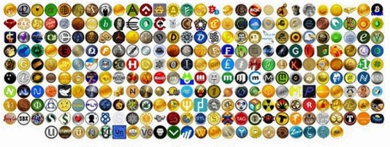 Alt coins, most of the worthless.